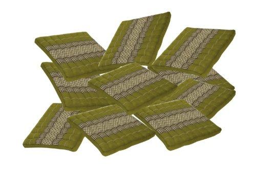 10 Handelsturm Seat&floor Cushions, Bamboogrenn, 100% Kapok Filling! by Handelsturm