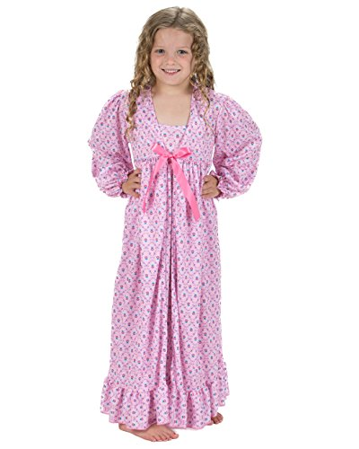 Laura Dare Little Girls Petite Fleur Peignoir Nightgown & Robe, -