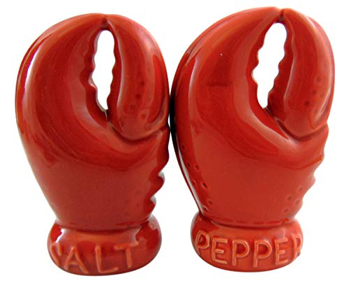 - Lobster Claw Salt and Pepper Shakers Ceramic Cellars Novelty Table Decor, 5 Inch