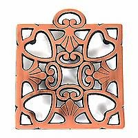 Round-up From the Heart -Copper Trivet- 2008