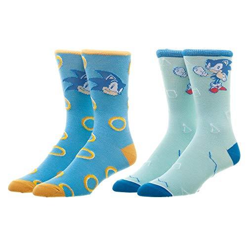 Sonic The Hedgehog Men's Crew Sock Set Of 2 Pairs ()