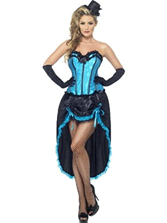 Victorian Costumes: Dresses, Saloon Girls, Southern Belle, Witch Smiffys Womens Burlesque Dancer Costume $49.38 AT vintagedancer.com