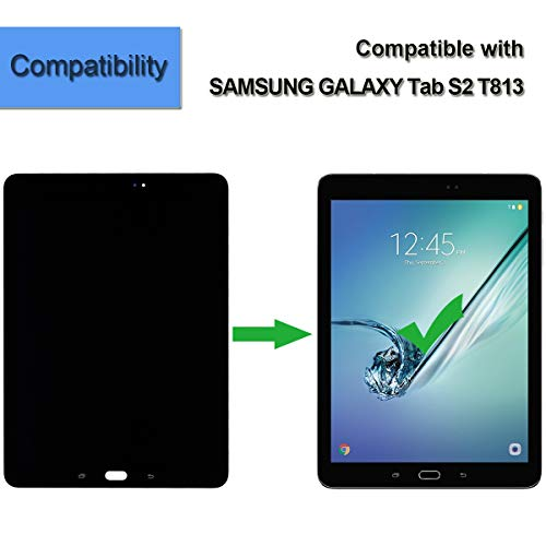 Replacement LCD Compatible with Samsung Galaxy Tab S2 9.7'' T810 T813 T815 T817 Display Digitizer Assembly Touch Screen (Black) + Tools by E-YIIVIIL (Image #4)