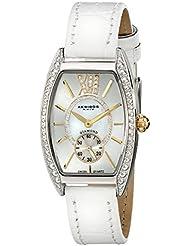 Akribos XXIV Womens AKR471WT Lady Diamond Collection Diamond Swiss Quartz Watch