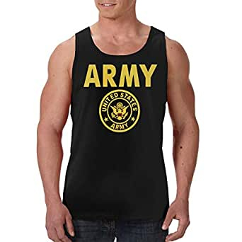 4bb4ff3a0a075 Image Unavailable. Image not available for. Color  US Army Gold Crest Tank  Tops ...