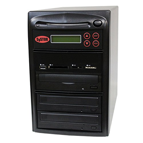 SySTOR All-in-One Multi-Media Flash Memory Back-up USB/SD/CF/MS/MMC to 1-2 CD DVD Duplicator