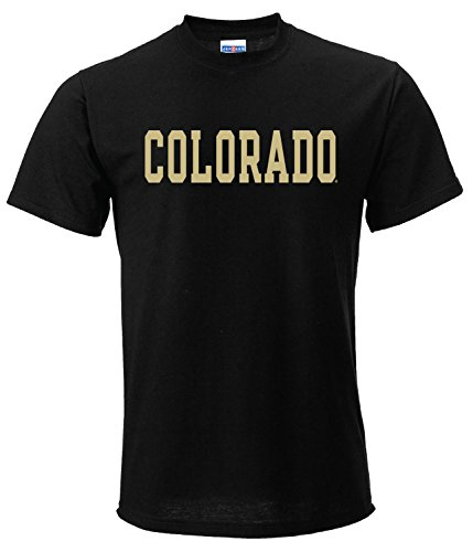 AS01 - Colorado Buffaloes Basic Block T-Shirt - Small - Black