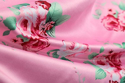 Femme Sexy Manches 5 Dos Soire Floral XXL Jupe S Longue Plage 44 Imprim Dress Maxi Robe 36 Elgant sans Rose Nu Chic Robe Backless Couleur Guesspower Ete qt6EP6f