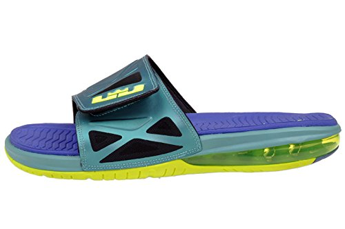 Nike Men's Air Lebron 2 Slide Elite, SPORT TURQUOISE/VOLT-VIOLET FORCE, 13 M US
