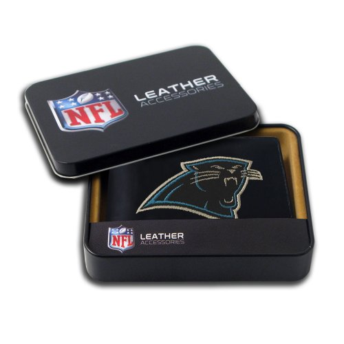 Carolina Panthers Embroidered Football (NFL Carolina Panthers Embroidered Genuine Cowhide Leather Billfold Wallet)