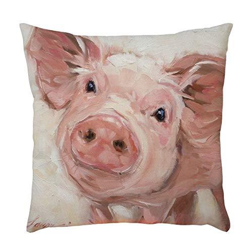 iYBUIA 3D Cartoon Animal Pattern Pillowcase Pillow Case Cushion Cover Sofa Home Car Decor (Pillow Euro To Where Buy Cases)