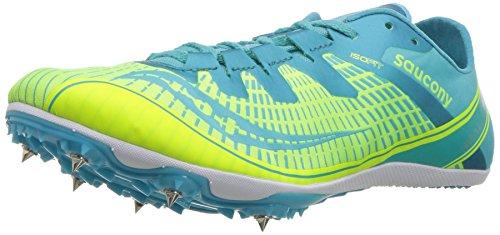 Saucony Women's Ballista 2 Track and Field Shoe Grey/Blue