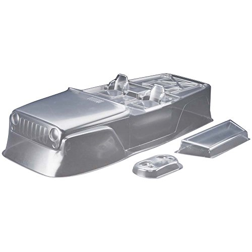 Axial AXIC4038 AX04038 Jeep Wrangler Race Body.40, Clear