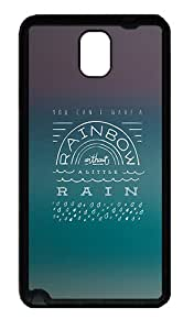 Quotes Rainbow Without The Rain Custom Samsung Galaxy Note 3 TPU Case and Cover - Black