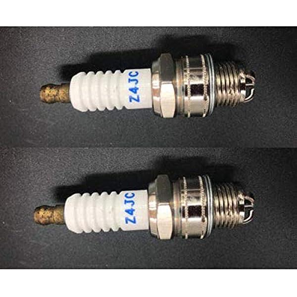 QAZAKY 10pcs Spark Plug Z4C for 49cc 50cc 66cc 70cc 80cc 2-Stroke Engine Motorized Bicycle Moped Scooter Yamaha JOG50 90 ZX50 DIO50 Suzuki AG100 QJ50 DX100 AX100 CJ750