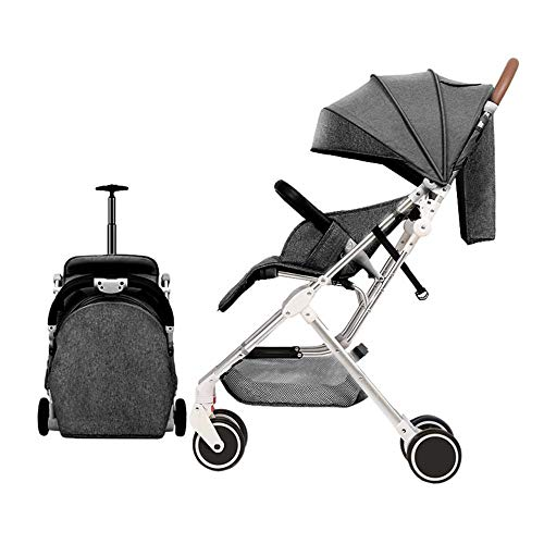 YBL Lightweight Four Rounds Urban Baby Strollers Folding Newborn and Toddler Girls boy Baby Carriage for 0-4 Years (Gray)