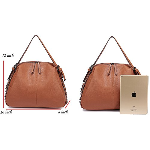 962 Top Pink 3 Removable With Straps Leather Women's PU Handle Handbag Shoulder Tote Hobo Purses Camel Ways DDDH Handbag faUvxIqSw
