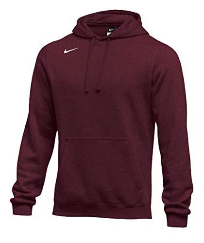 Maroon Hoody Sweatshirt (Nike Men's Pullover Fleece Club Hoodie (XX-Large, Dark Maroon))
