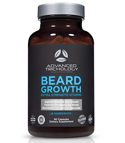 Clearance- BEARD GROWTH Supplements - Beard Growth Product Scientifically Developed Extra Strength for Men - High Potency Biotin, Saw Palmetto, Silica, Foti - - Dermatologist Recommended - Made in USA