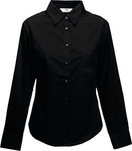Nueva Oxford- Blusa de popelina para mujer corte femenino manga larga casual wear Top