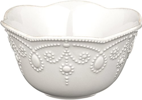 Lenox French Perle Fruit Bowl, White - Stoneware Mixing Bowl