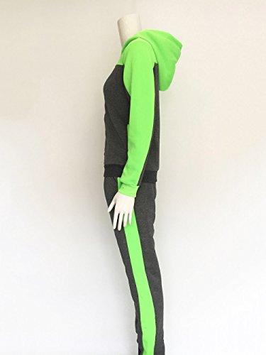 De Pantalons Youngii Contrastée À Tailleur Sport Deux Sweat Vert Survêtement Capuche Pull Costumes Ensemble Femme Couleur Pièces Survêtements Frq1vFwP