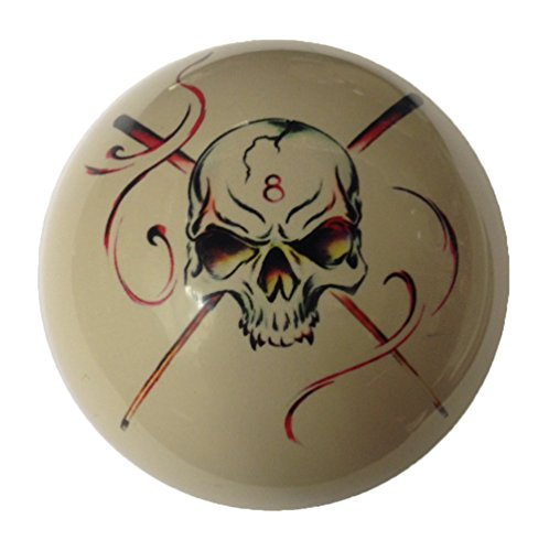 D&L Billiards  8 Ball Skull Crossbones with Cues Cue Ball Custom by