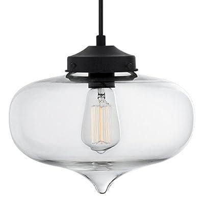 Linea di Liara Casablanca Clear Glass One Light Pendant Lamp LL-P511-CRI