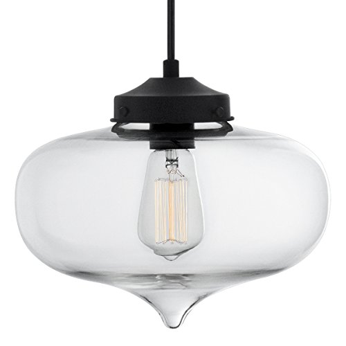 Casablanca Clear Glass One Light Pendant Lamp - Linea di Liara LL-P511-CRI (Glass Pendant Casablanca)