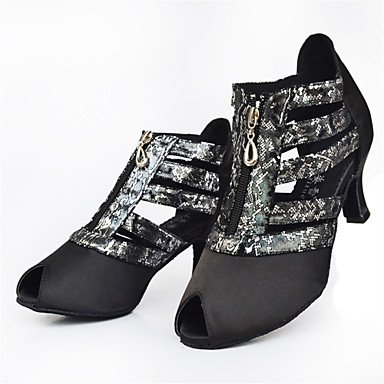Latino Salsa Black de baile Personalizables Negro Tacón Personalizado Zapatos qB1wt
