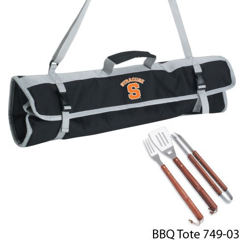NCAA Syracuse Orange 3-Piece BBQ Tool Set With Tote by PICNIC TIME