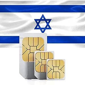 Tarjeta SIM prepago para Israel con 3GB de Datos de Alta Velocidad válida por 60 días