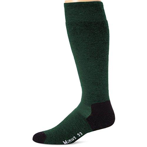 Minus33 Merino Wool Ski and Snowboard Sock Forest Green Large