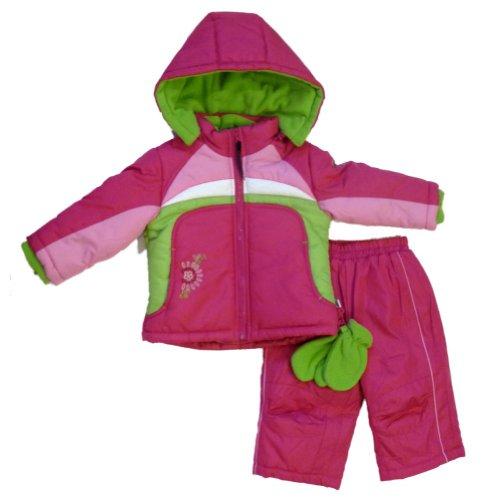 Rothschild Infant Girls Berry Pink Outerwear Set Snow Pants & Coat Snowsuit 18m