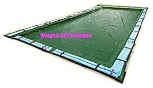 Ultra 16 Ft x 32 Ft Rectangle Inground Pool Solid Winter Cover Protective Armor Maxx Gold 12 Year Warranty