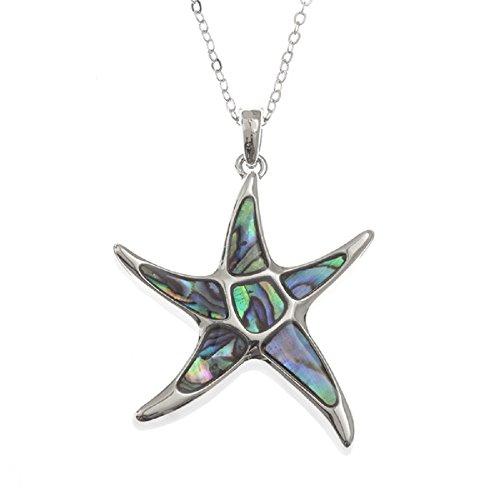 Mirabella BellaMira Abalone Starfish Necklace Gift ()