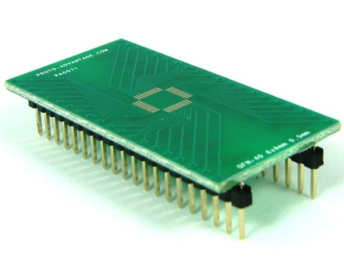 Proto-Advantage QFN-40 to DIP-40 SMT Adapter (0.5 mm pitch, 6 x 6 mm (Qfn Dip Adapter)