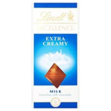 Lindt Excellence Extra Creamy Milk Chocolate Bar - 100g