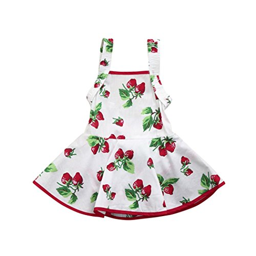 8dcea09df144 Goodtrade8 Toddler Baby Girl Sleeveless Strawberry Print Romper Princess  Tutu Dresses Outfit Clothes