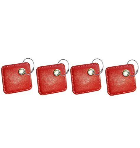 Key Chain Cover for Tile Mate Skin Phone Finder Key Finder Item Finder Accessory to Have a Dress Outfit Fashion Look(only case, NO Tracker Included). Red X ()