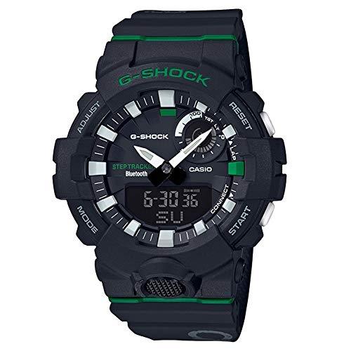 (   G-SHOCK Analog-Digital Step Tracker Black Dial Men's Watch GBA800DG-1A )
