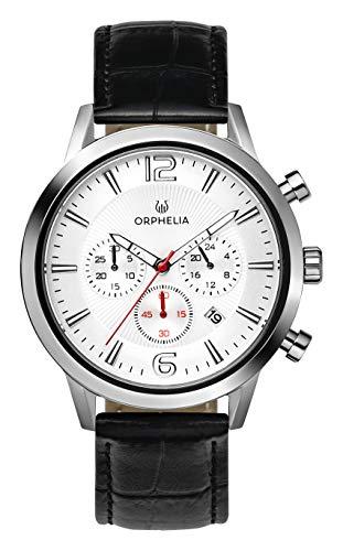 ORPHELIA Tempo OR81800 Men's Watch 43mm,Leather Black Strap Japanese Quartz
