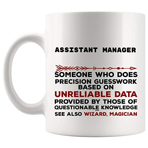 Funny Assistant Manager Mug Gift - 11Oz Coffee Cup - Best Gifts for Men Women T-Shirt Cups Mugs from WingToday
