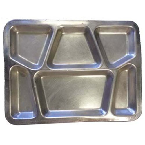 Military Outdoor Clothing Previously Issued U.S. G.I. Stainless Steel Military Mess Tray with 6 Compartments by Military Outdoor Clothing (Image #1)