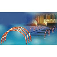 Sienna Lighted Candy Cane Archways/Pathway Markers Outdoor Christmas Decorations, Set of 3