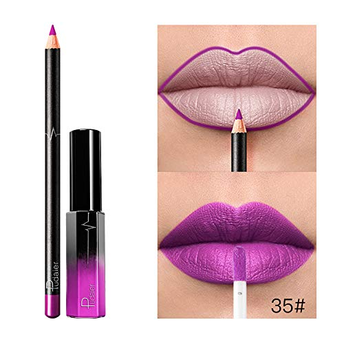 FORUU Women's Lipstick, 2019 Valentine's Day Surprise Best Gift For Girlfriend Lover Wife Party Under 5 Free delivery Long Lasting Waterproof Matte Liquid Gloss Lip Liner Cosmetics Set ()