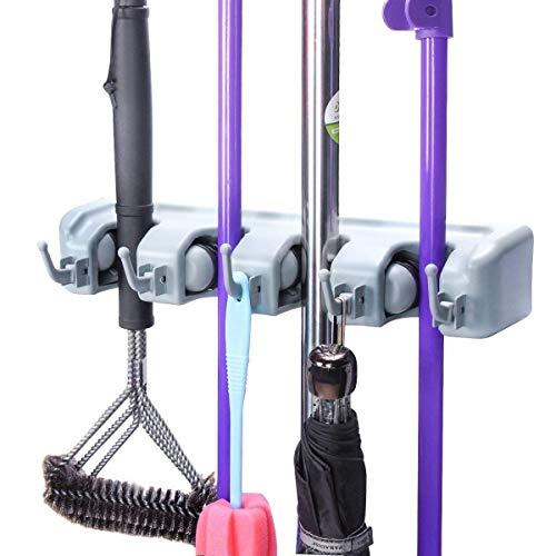 FW FAMEWORLD Multipurpose Organizer Storage Hooks Wall Mounted Magic Mop and Broom Holder Price & Reviews