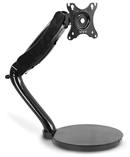 (VIVO Black Height Adjustable Counterbalance Free-Standing Deluxe Gas Spring Arm Mount Tabletop Stand for 13
