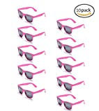 100% UV Protection Wholesale Multi PACK Unisex 80'S Retro Style Promotional Sunglasses