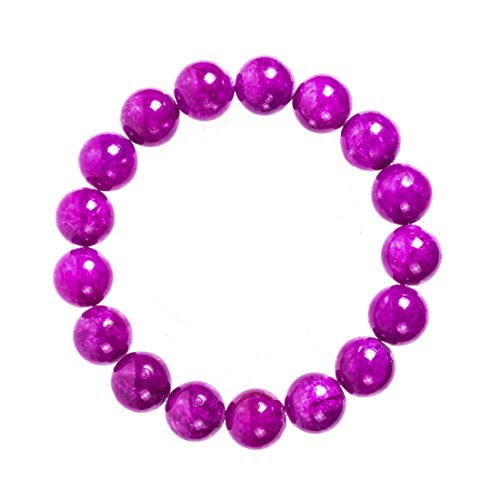 [VK Accessories Unisex Crystal Bracelet Rondelles 13mm Glass Beads Elastic Stretch Bracelet Charm Faceted Nugget Beads Smooth Dark] (70s Jewellery Disco)